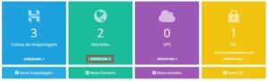 Configurações do domínio