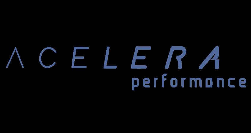 logo Acelera Performance azul